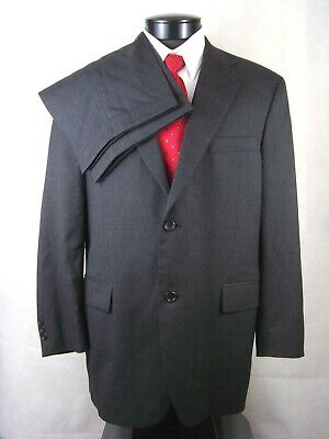 Joseph & Feiss Suit Charcoal Gray Wool Mens 43R Waist 35.5