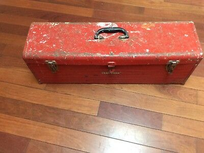 "Vintage Craftsman Carpenters Tool Chest Box 30"" Long w Tray"