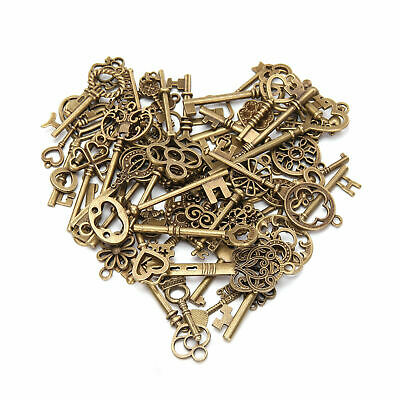 69 kinds of Old Fashion Keys Antique Vintage Bronze Pendants Decor Gift US STOCK