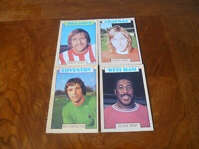 A & BC Blue Back Football Cards 1970's X 4 VGD