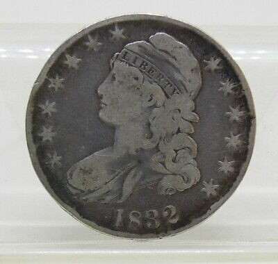 1832 US Mint Capped Bust Half Dollar 50 Cent Silver Coin Fine ~ Free Shipping
