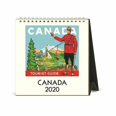 Cavallini Papers and Co Canada 2020 Desk Calendar, Multicolour