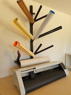 Vinyl Roll Rack Storage Wall Mount Garment Sticker Printing