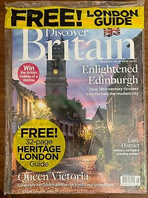 Discover Britain June 2019  Magazine  New /Sealed  Free Heritage London Guide