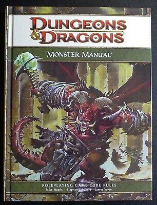 Monster Manual - 2008 HC D&D Dungeons & Dragons Fourth 4th Edition 4E D20