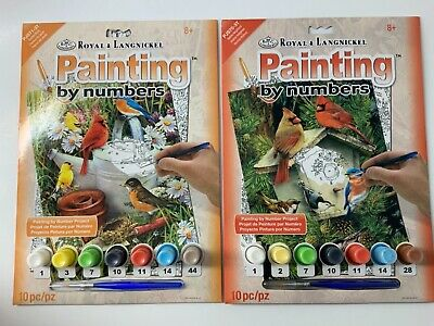 2 Paint By Number Kits Royal & Langnickel  Birds New