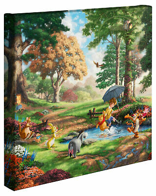 Winnie the Pooh I So Much Better With Two Gallery Wrapped Thomas Kinkade 14x14