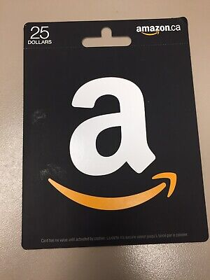 Qty Of 2 - 25 Dollar Amazon Gift Card Canadian