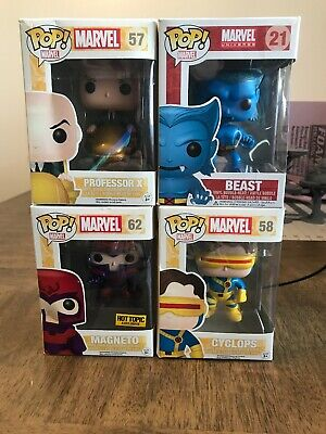 Marvel X-men Funko Pop Lot Collection Cyclops Magneto Beast Prof X Exclusive