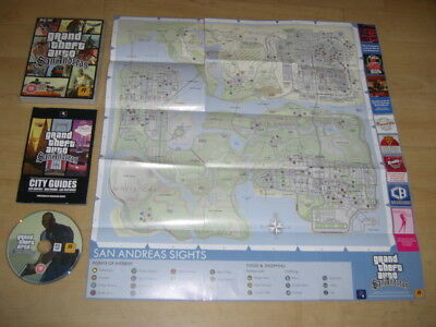 Grand Theft Auto GTA SAN ANDREAS Pc DVD Rom Complete with Manual & Map FAST POST