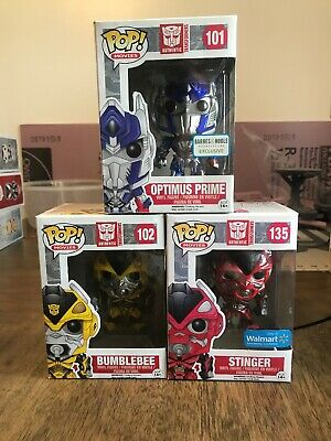 Transformers Funko Pop Lot Collection Optimus Bumblebee Stinger Exclusive
