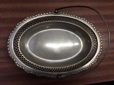 Vintage EPNS Oval Fruit Bowl With Swing Handle