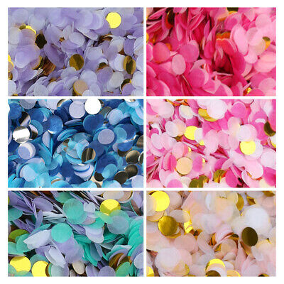 6 Colours Confetti for Birthday Wedding Party  Bio Tissue Celebrations