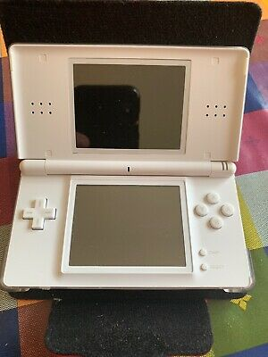 NINTENDO DS Lite Handheld Video Games Console in White Bundle With 2 Games - A12