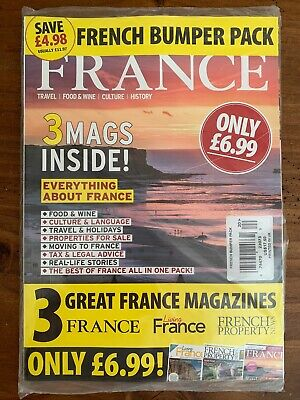 French BUMPER PACK 3 Magazines (France, Living France & French Property News NEW