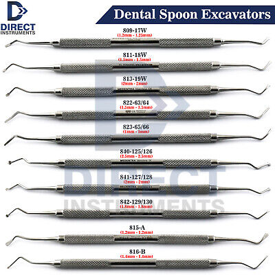 MEDENTRA Dental Spoon Excavator Restorative Tooth Cavity Carious Decay Treatment
