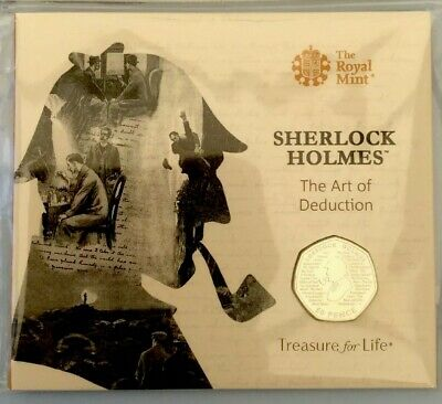 NEW 2019 SHERLOCK HOLMES 50p COIN BRILLIANT UNCIRCULATED IN ROYAL MINT PACK