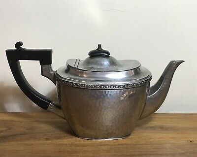 Vintage Art Deco Teapot 'Don Pewter' Cooper Bros & Sons Sheffield Collectable