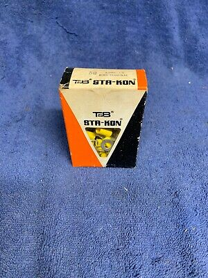 """50 Sta-Kon 10RC-14CP Ring Terminal Connector Insulated 1/4"""" bolt 12-10 awg"""