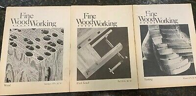 LOT Of 3 Vtg Fine Woodworking Magazines 1976 Issues Volume 1 Numbers 3, 4 & 5.