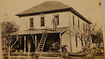 RARE  SALINA CO  HOME HOTEL, BUILDING, TOWN VIEW  GHOST TOWN  Rppc Postcard