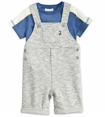 First Impressions Baby Boys' 2-Piece T-Shirt & Shortall Set,Size 3-6 M, MSRP $38