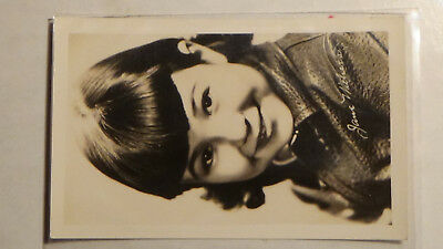 Rppc Postcard JANE WHITHERS  FAMOUS ACTRESS MOVIE STAR, GIRL FILM TV