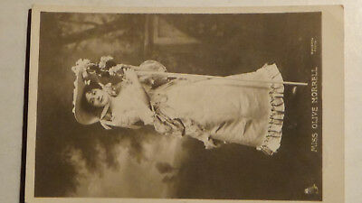Rppc Postcard 1912 Olive Morrell  Famous  Actress Movie Star, Girl Film Stamp