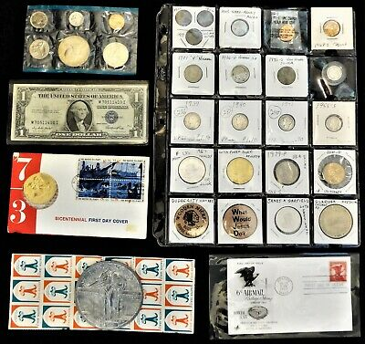 (Not) Junk Box Lot C - Beautiful Coins inc. Silver, Medals, Stamps, and more!