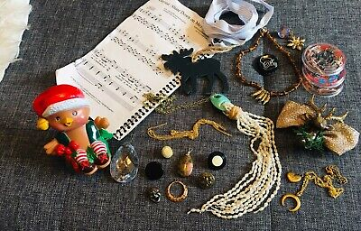 23 Pieces Vintage / Recent Junk Drawer Lot Buttons Jewelry Sterling Pearls More