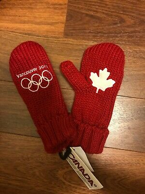 Team Canada 2010 Vancouver Olympics Red Mittens - Small - New