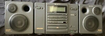 Vintage Sony Boombox AM FM Radio/Dual Cassette/CD player CFD-757 Mega Bass