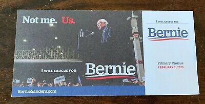 Bernie Sanders Official Iowa Commit To Caucus Card 2020 Presidential Campaign US