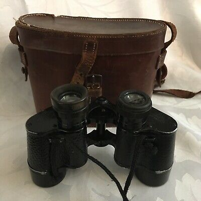 Antique WWI - WW2 Era C.P. Goerz Helinox German Binoculars with Case