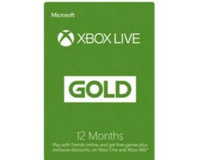 Xbox Live 12 Month Gold Membership.
