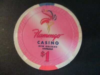 Flamingo Casino New Orleans La $1 Chip - Mint