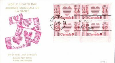 1972 TAGGED #560ii UN World Health Day LR CR BLK FDC with CP cachet unaddressed
