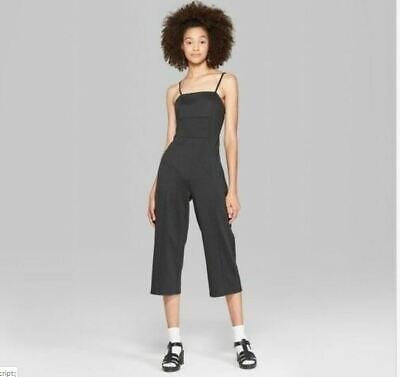 Womens Strappy Knit Jumpsuit - Wild Fable - Black - NWT