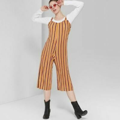 Womens Striped Strappy Scoop Neck Pleated Knit Jumpsuit - Wild Fable - NWT