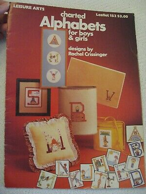Charted Alphabets for boys & girls  Leisure Arts 152  Super cute!
