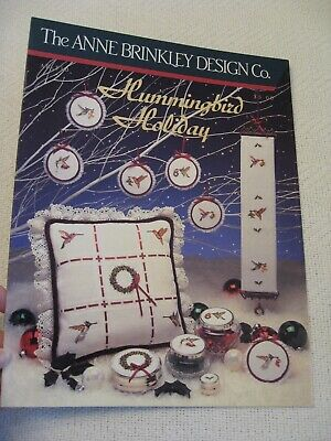 """""""Hummingbird Holiday"""" counted cross stitch patterns by Anne Brinkley"""