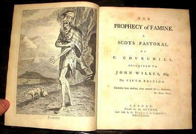 1763 SCOTTISH Pastoral XENOPHOBIC Churchill POEM Controversial STARVING Famine