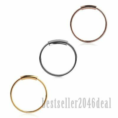 3pcs 22G Surgical Steel Seamless Hoop Rings Nose Eyebrow Tragus Lip Ear Ring