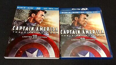 Marvel CAPTAIN AMERICA: THE FIRST AVENGER Blu-ray 3D w/OOP Slipcover - 2011 MCU