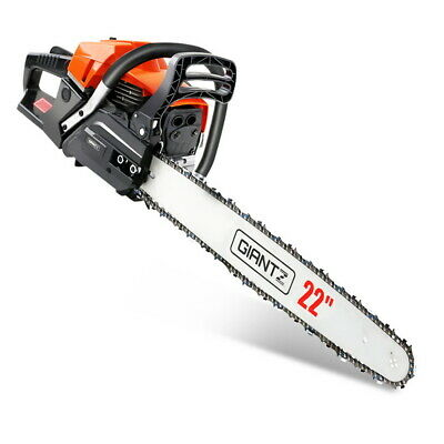 Giantz 62CC Petrol Commercial Chainsaw E Start Chain Saw Pro Tree Tool Set Bar