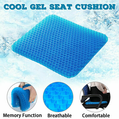 Gel Seat Cushion Honeycomb Design Breathable for Office Chair Pressure Relief Q