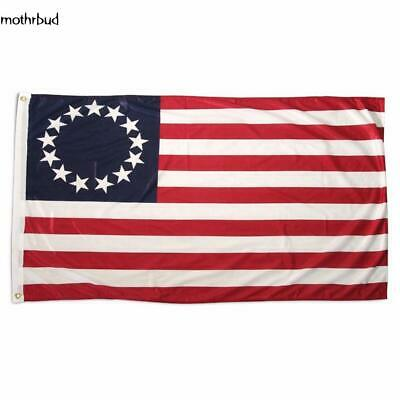 3x5 FT POLYESTER US AMERICAN BETSY ROSS 13 STAR USA HISTORIC FLAG 4th of JULY A