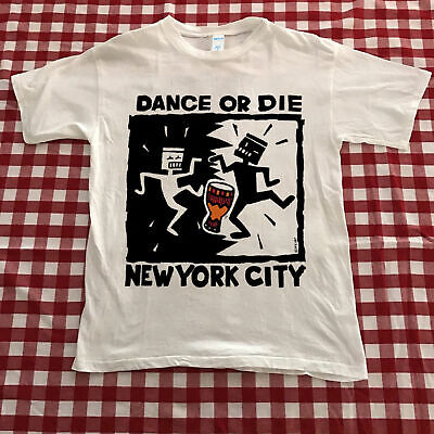 Vintage 1990's Dance or Die KEITH HARING NYC New York City T-Shirt
