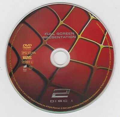 Spiderman 2 - Full Screen - DVD - No Case {In Protective Sleeve} - (Low Ship Off
