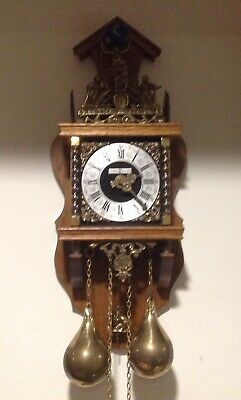 Howard Miller Pendulum Wall Clock, Works made In Germany, For Parts Or Repair